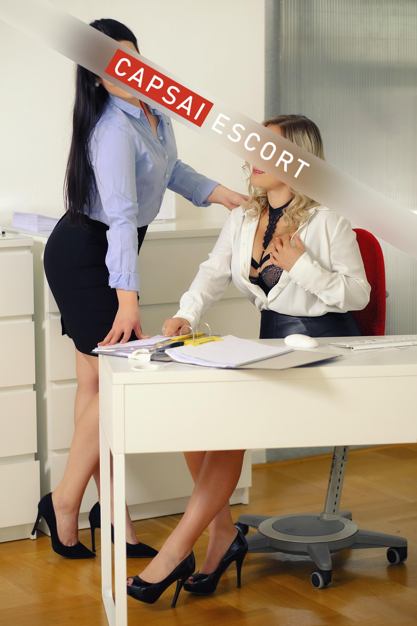 Escort Damen beim Sex im Büro